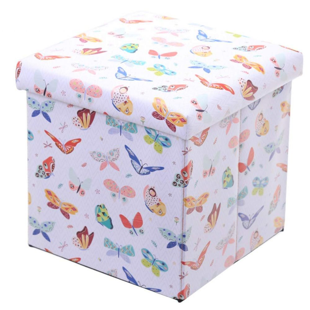 Butterfly Boys | Girls Bedroom Storage Box with Seat